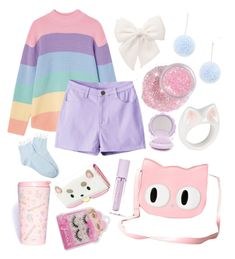 """Fairy Kei #14 ⭐️✨"" by anniebeexoxo on Polyvore featuring Forever 21, Nach, Banned, Lime Crime and SANRIO"