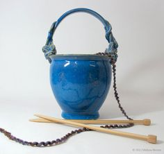 Ceramic Yarn Bowl knitting basket