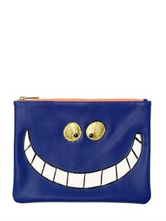 Cheshire Cat Faux Leather Pouch. We just love these.