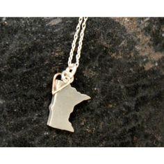 I heart Minnesota necklace