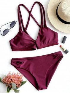 ac5cd3fc04d5 Criss Cross Low Waisted Bikini Set #bikini #bikinigirls #fitbikinigirls  #hotgirls #fitwomen #fitbikiniwomen #girlsinbikini #womeninbikini  #sexygirls ...