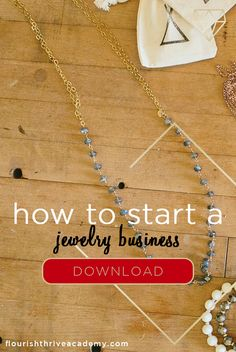 Starting a business is a daunting task, especially when you've never been through the process before. Plus — as natural born creatives — your impulse might be to skip all those boring, business-y activities and go straight to designing jewelry. That's why we've compiled the most important steps you'll need to take in order to launch your jewelry business the RIGHT way! Click to Download Your FREE Guide Now!