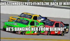 Immature, but hilarious. Can't wait for the Daytona 500. #DanicaPatrick #RickyStenhouse #NASCAR