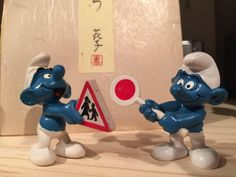 Excited to share the latest addition to my shop: Vintage School Patrol Smurf & Traffic Crossing Smurf Shop Around, See Picture, Vintage Toys, Smurfs, Etsy Shop, School, Pictures, Blue, Painting