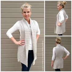 Vest Crochet Pattern Long Style with Shawl by bubnutPatterns
