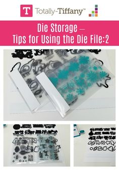 Die Storage - tips for using the Die File - more idea about how to get the best use of your Desk Maid Die Fil with you organize with Totally-Tiffany. Craft Room Design, Big Money, Craft Organization, Embossing Folder, Filing, Maid, Craft Supplies, Tiffany, Crafting