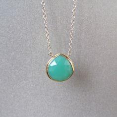 aqua tear shaped pendant