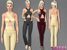 .:431 - Open Jumpsuit:.  Found in TSR Category 'Sims 3 Female Clothing'