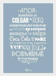 LÁMINA Ilustración. Tipografía. Amor también es por IzarixShop, €10.00: