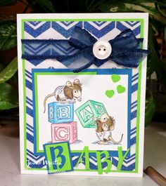 StampThis: Background made with glitter and Dreamweaver Stencils Chevron stencil. House-Mouse stamp from #Stampendous. By Jamie Martin. #cre8time