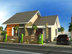 Modern minimalist home design 1 floor - The house is a person's basic needs to be used as a residence. Modern Minimalist House, Modern House Design, Style Bali, Home Interior Design, Exterior Design, Type 45, One Storey House, Build Your Own House, House Built