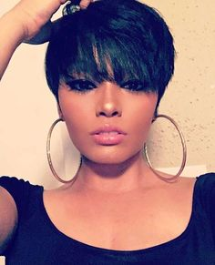 short wigs for black women african american wigs human hair wigs short pixie hai.- short wigs for black women african american wigs human hair wigs short pixie hairstyles Short Pixie Haircuts, Pixie Hairstyles, Short Hair Cuts, Black Hairstyles, Hairstyles 2016, Ladies Hairstyles, Pixie Cuts, Choppy Haircuts, Medium Haircuts