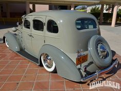 Check out these bombs owned by Pachuco Car Club member Jose Galvan, a 1946 Chevrolet 1/2-ton truck, and a 1936 Chevrolet Master Deluxe Sport Sedan. - Lowrider Magazine