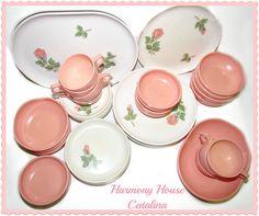 Vintage Harmony House 'Catalina' Melmac Dinnerware Set...many many many dinners on this same set..good days.