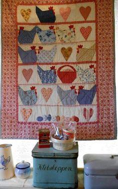 supergoof quilts | Supergoof Quilts: Chicken Quilt