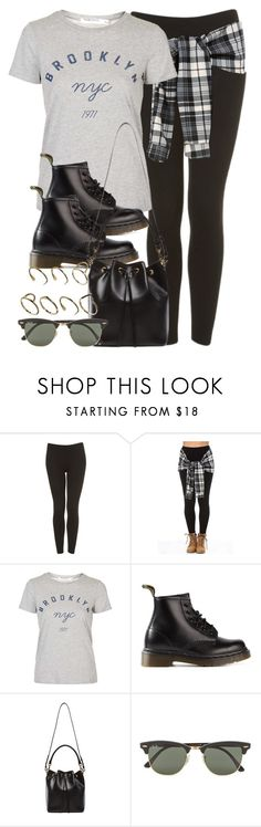 """""""Style #9930"""" by vany-alvarado ❤ liked on Polyvore featuring Topshop, Dr. Martens, Yves Saint Laurent, Ray-Ban and ASOS"""