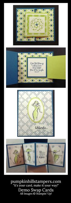 Demo Swap Cards from 2017-2018 Stampin' Up Catalog sets
