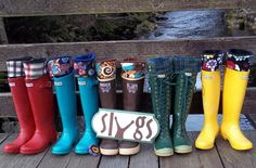 SLUGS MENS Fleece Rain Boot Liners, Fleece Socks in Solid Brown, Summer Fashion, Fathers Day, Gift For Him (Made To Fit). $20.00, via Etsy.