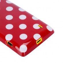Funda Nokia Lumia 520 Gel Lunares Roja  $ 50,51