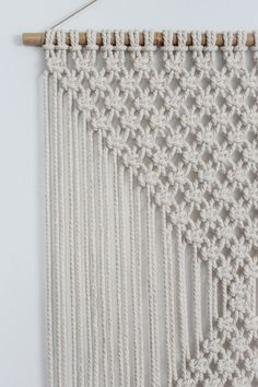 Macrame Wall Hanging DIAMONDS Ecru by ButtermilkDesignCo on Etsy