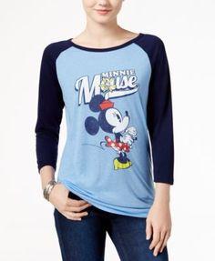 Freeze 24-7 Juniors' Minnie Mouse Graphic Raglan T-Shirt