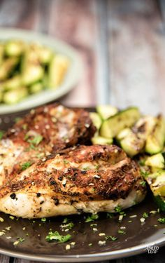 Grilled Chicken Breasts With Zucchini #Paleo