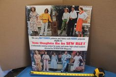 Vtg 1970's BUTTERICK PATTERNS STORE DISPLAY EASEL STAND UP SIGN SEVENTEEN MAG. | eBay