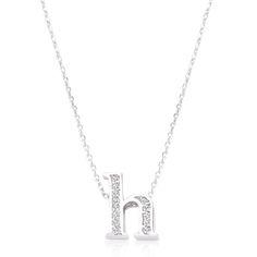 Initial H Crystal Pendant