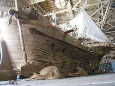 Life-Sized Pirate Ship Made Entirely Of Cardboard | Click through for the full post! #paperart
