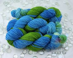 Forget me not hand dyed domestic merino wool by Arctickrafts