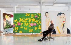 Architectural Digest published photos of painter Alex Katz' Soho studio