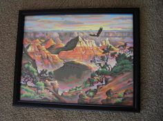 Paint by Numbers Vintage Grand Canyon by icondesign on Etsy, $29.99