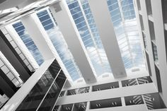Get inspired to design beautiful daylight solutions. Explore our case studies with rooflight solutions for commercial buildings. Roof Light, Glass Roof, Case Study, Blinds, Skyscraper, This Is Us, Multi Story Building, Skylights, Hardware