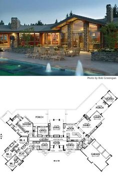 large ranch home plan. This is my FAVORITE house plan ever!!!! A sprawling one-story craftsman home!
