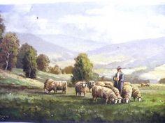Rudolf Calmann Gemälde Schafe auf der Weide