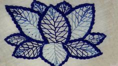 Hand Embroidery : Flower Embroidery: Feather Stitch & Bullion Stitch - YouTube