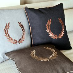 GEEK WREATH embroidery pillow covers 3  by letsdecorateonline, $30.90