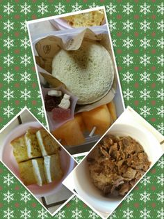 Bulgogi and rice, tofu for Lunch and fruits, peanut butter and jelly sandwiche and vitamin jelly for snack!!