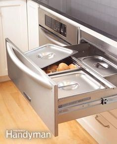 Cool drawers that keep things warm.