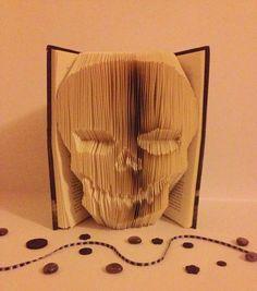 Skull Book Folding Pattern by CraftyHana on Etsy