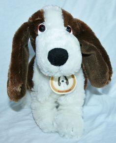 GOLDEN BEAR Plush Stuffed Animal Basset Hound Puppy Dog Soft Toy 7.5 inches tall #GoldenBear