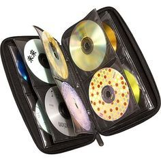 CD cases. I used to have one that held over 200