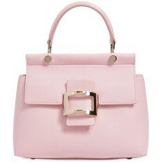 Roger Vivier Women Mini Viv  Leather Top Handle Bag ( 3,215) ❤ liked on b2fd3fbd34