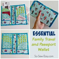 Family Travel and Passport Wallet | Craftsy