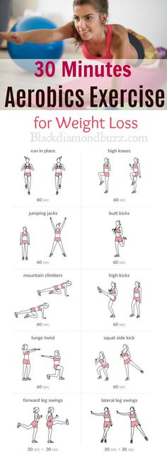 Aerobics workout routine at home for beginners, strength, weight loss, and included cardio exercises for men and women