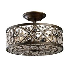 Elk 11286/4 Amherst Antique Bronze Semi-Flush Mount On Sale Now. Guaranteed Low Prices. Call Today (877)-237-9098.