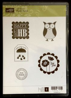 Stampin' Up Clear Mount Stamps Punch Bunch Set of 5 Sale-A-Bration NEW