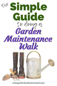 Garden Maintenance Walk: The Best Way To Keep on Top of Things : Do you want to keep on top of what is going on in your garden? Taking a regular garden maintenance walk will help you grow better vegetables and fruit. Prune Fruit, Backyard Layout, Japanese Beetles, Garden Storage Shed, Plant Diseases, Garden Maintenance, Weed Control, Drought Tolerant Plants, Garden Pests