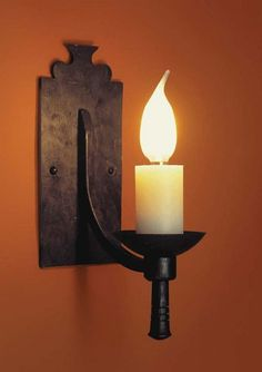 candle wall sconce with bulb