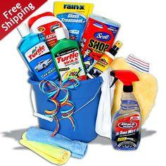 Deluxe Car Wash Gift Bucket by GourmetGiftBaskets.com